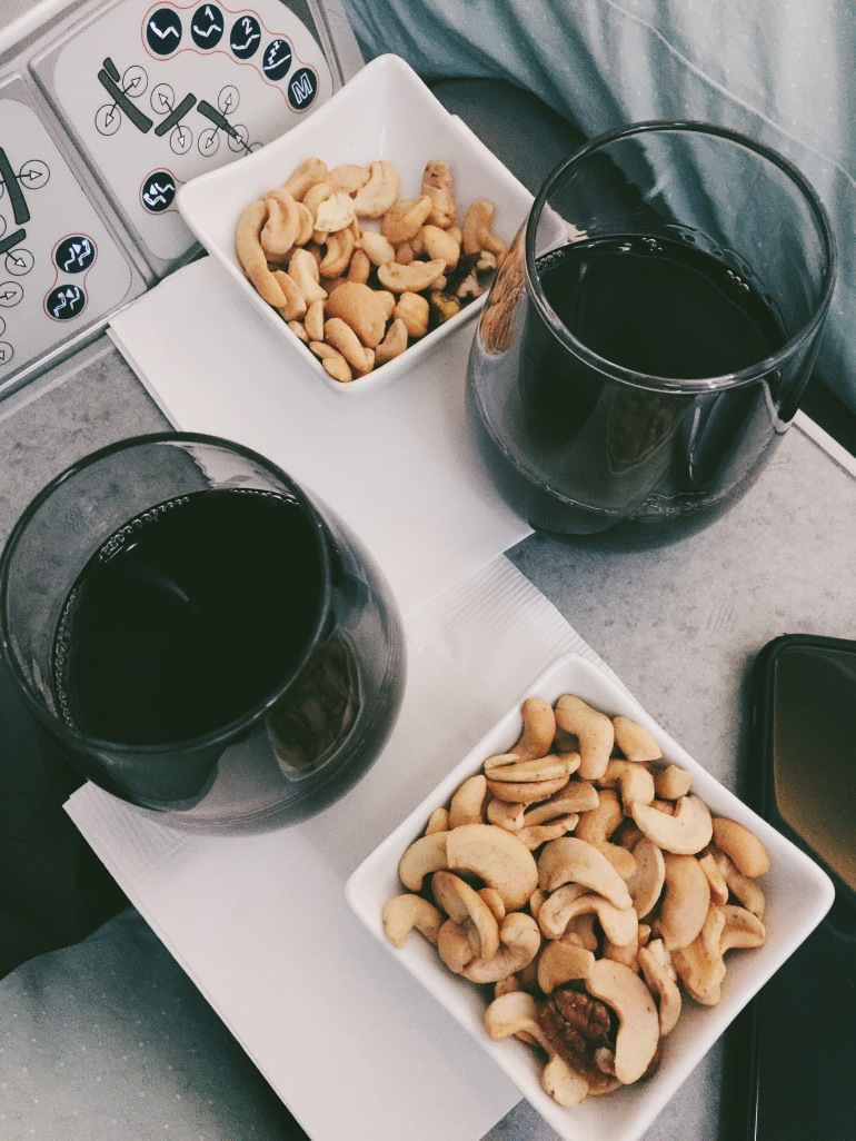 wine and nuts