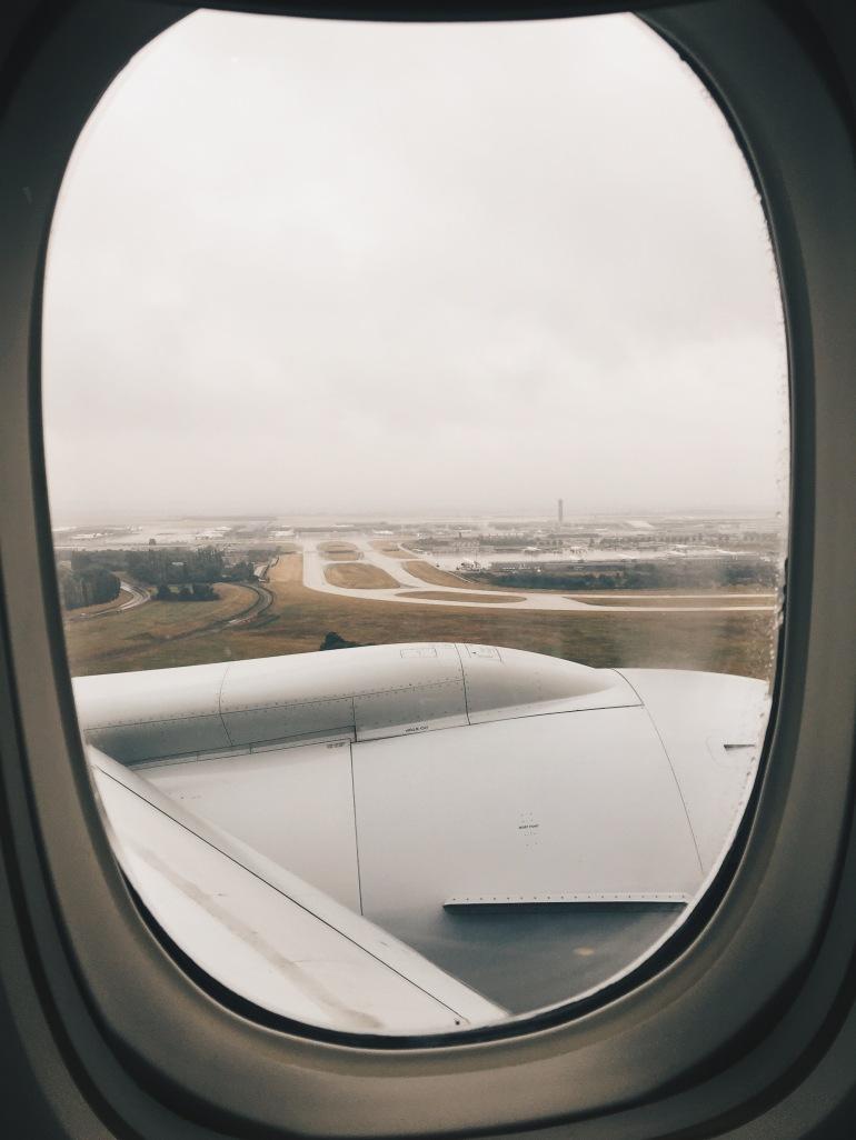 Landing at CDG