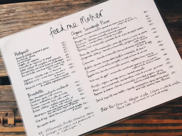 Mother menu