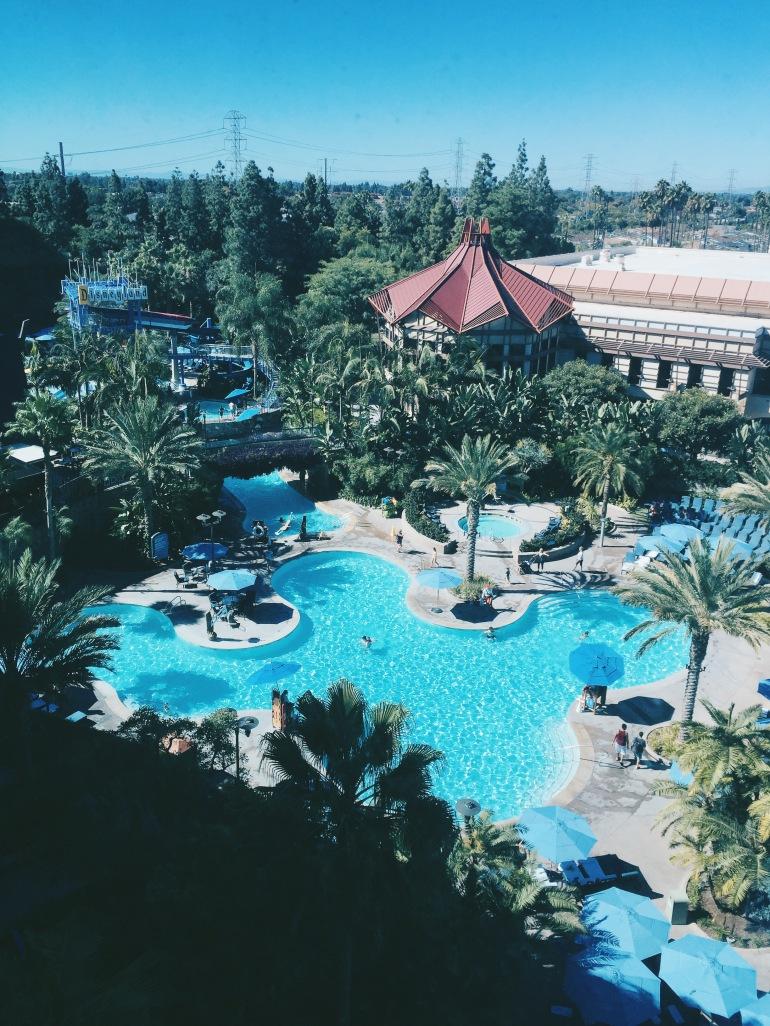 Disneyland Hotel pool view