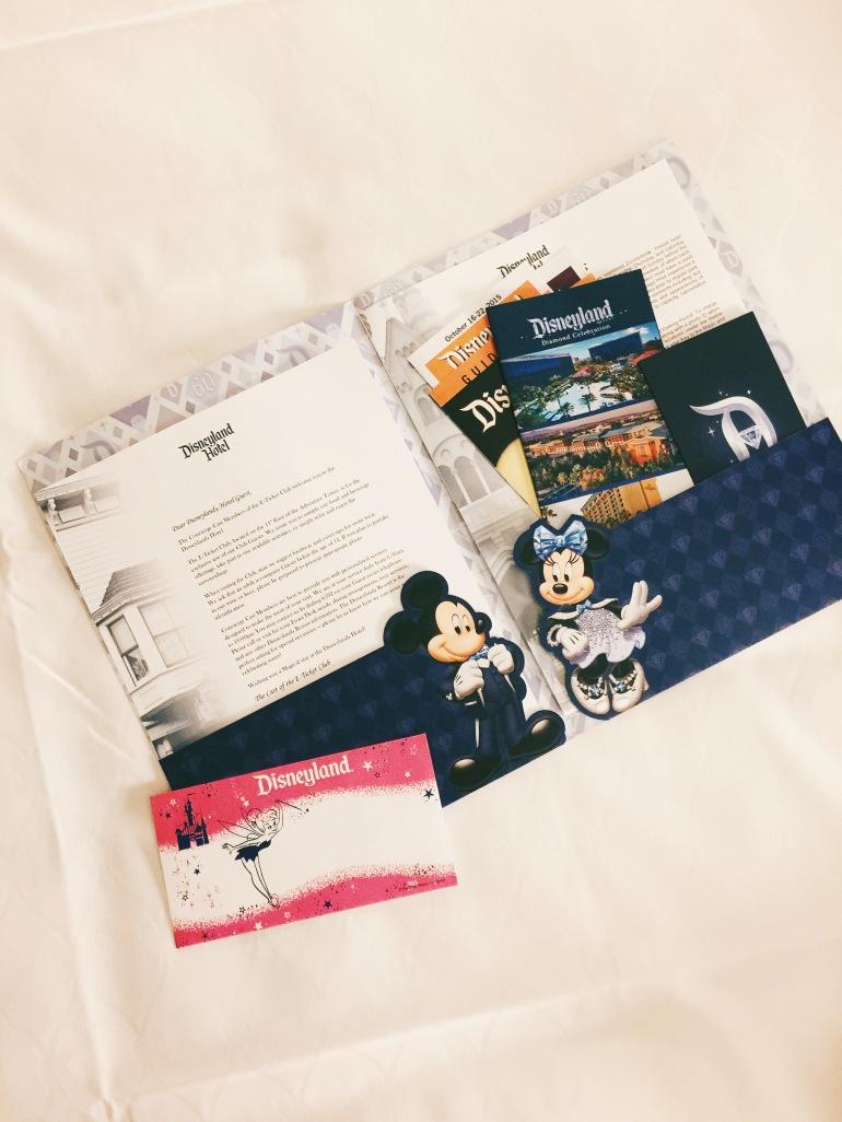 Disneyland Hotel brochure packet