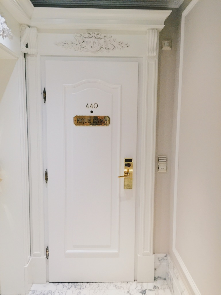 Hotel Sacher - hotel room door