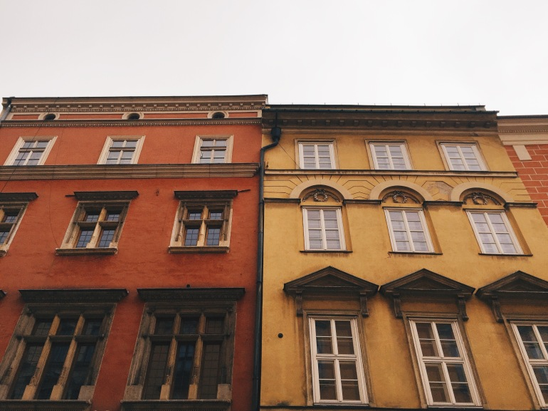 Square - colorful facades