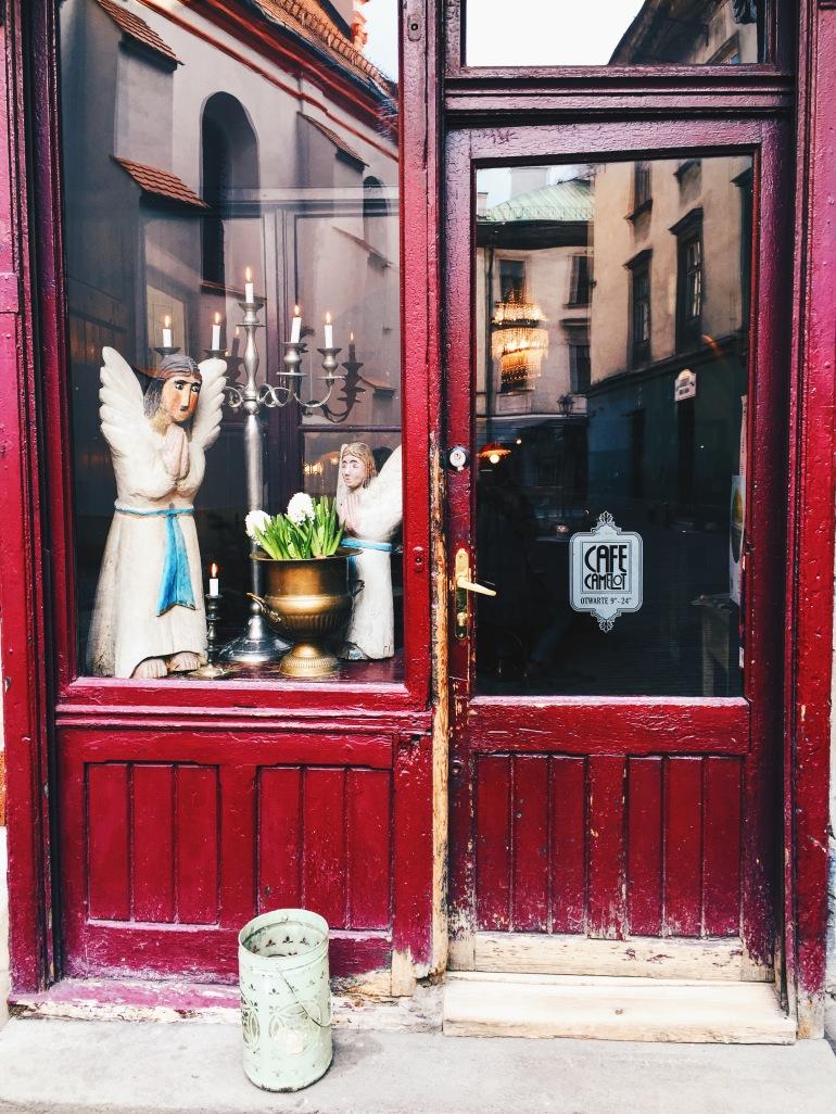 Camelot Cafe door