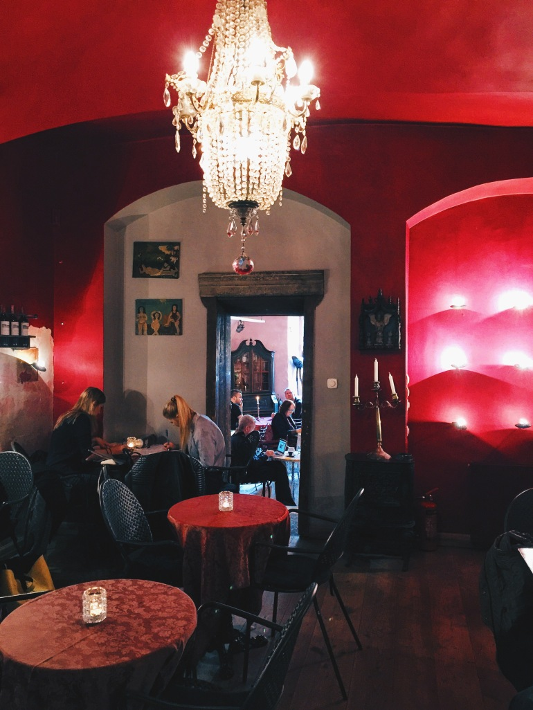 Camelot Cafe red room