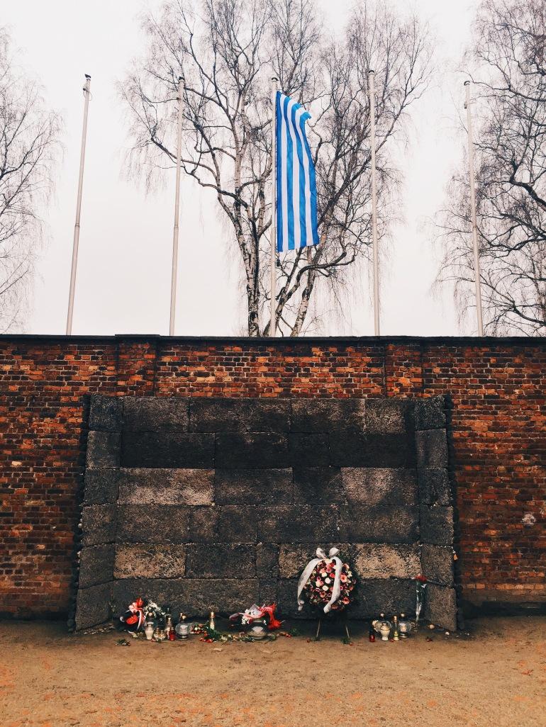 Auschwitz - firing squad memorial