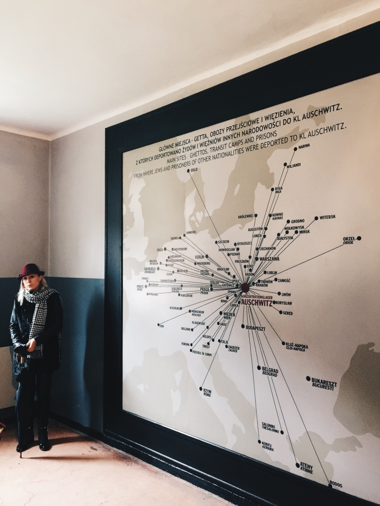 Auschwitz guide with map