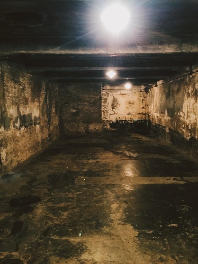 Auschwitz inside gas chamber