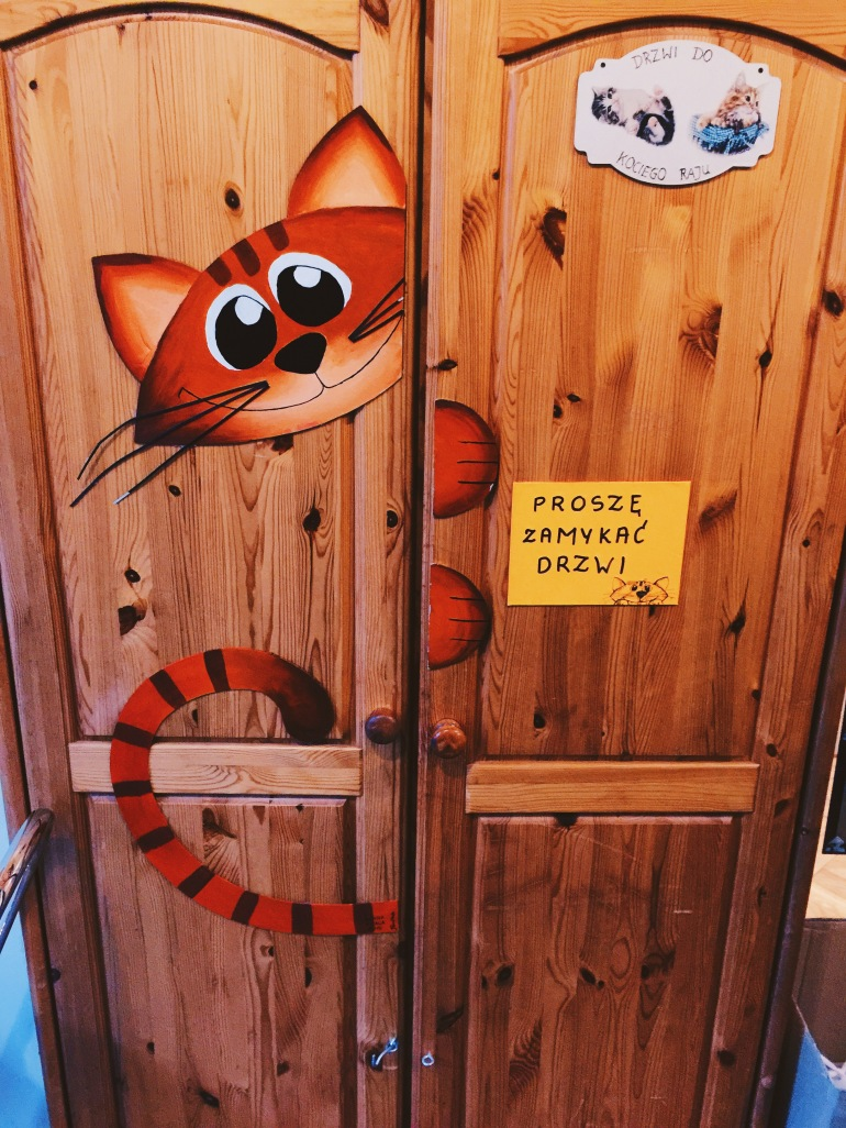 Kitty coffee - wardrobe entrance
