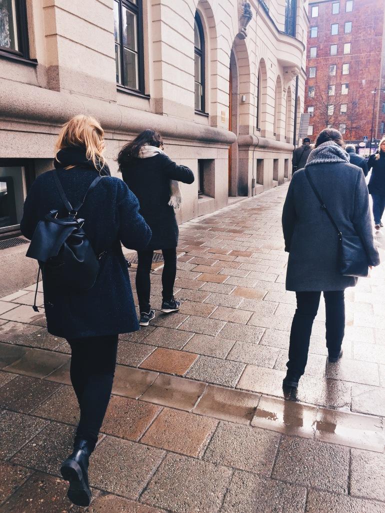 Walking to
