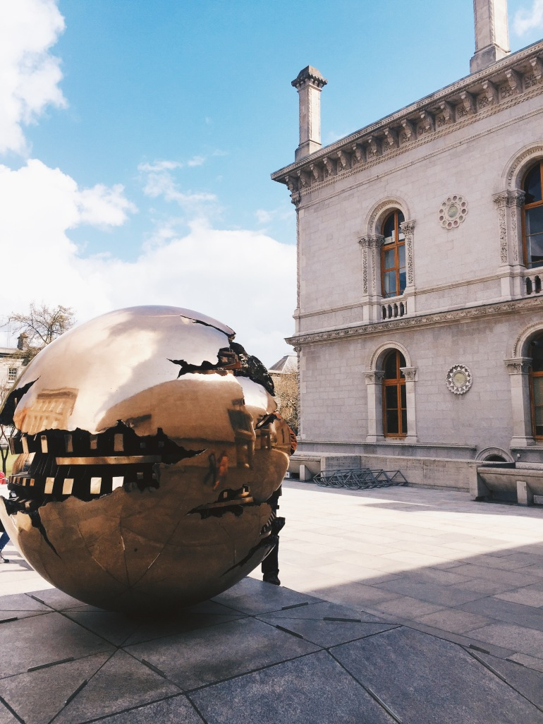 Trinity College - globe thing