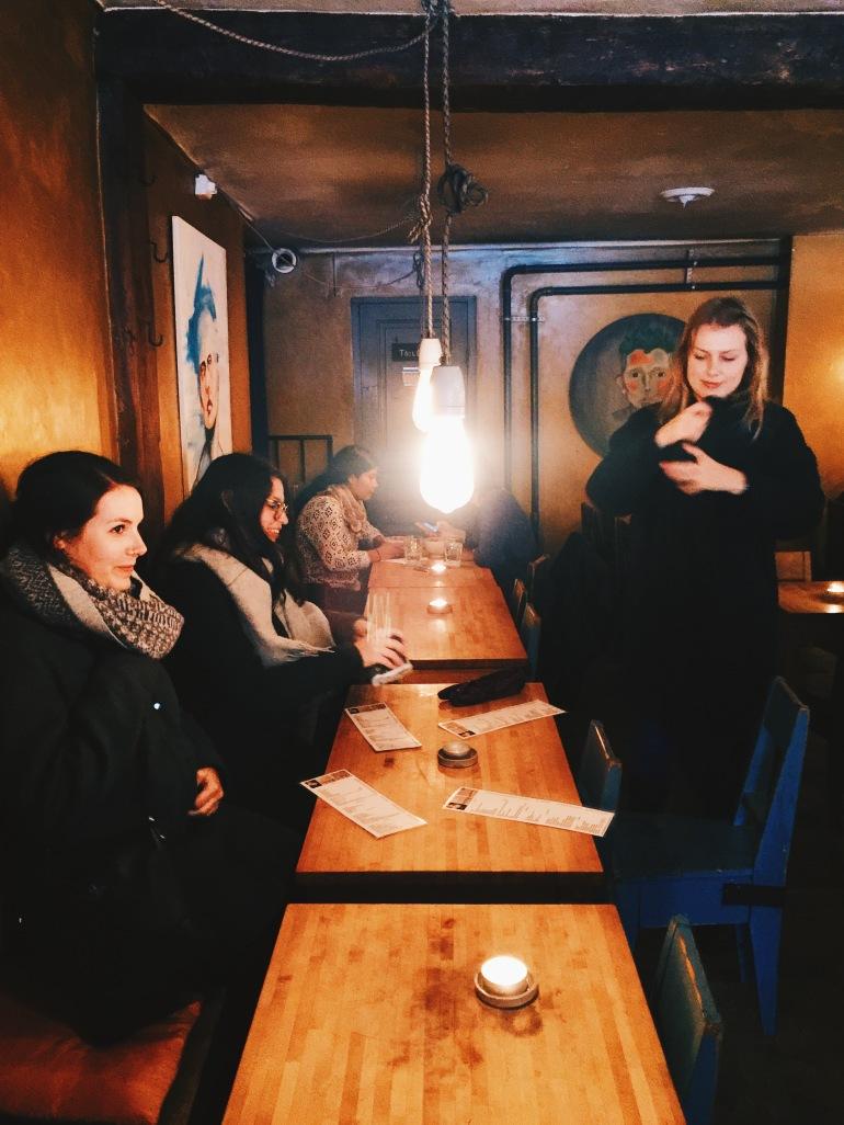 Gamla Stan - inside cafe
