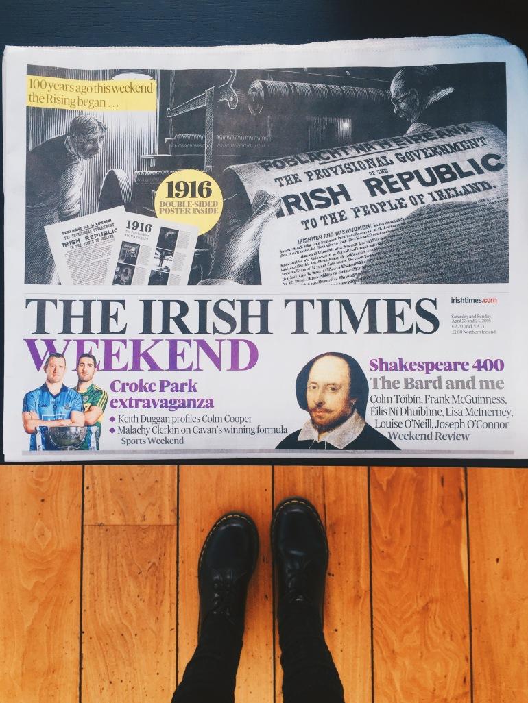 Rooftop bar - newspaper