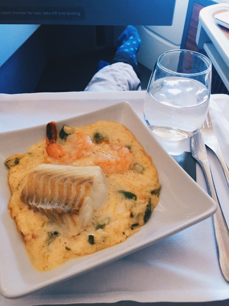 Business class - more eats