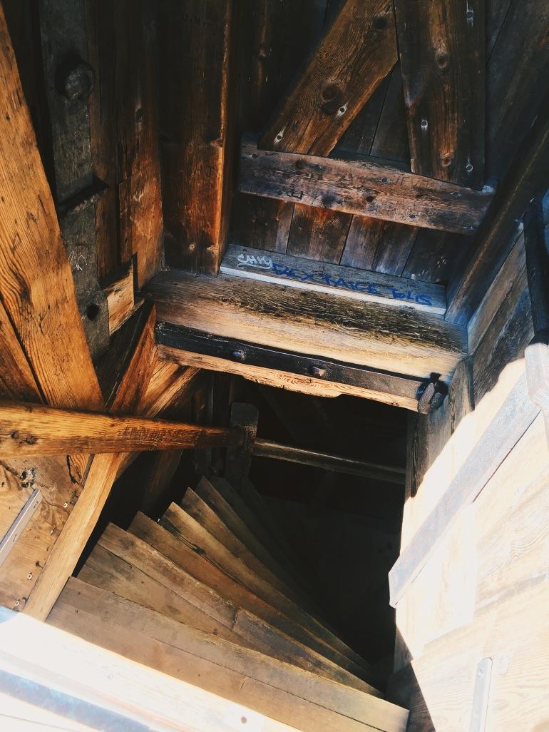 Church stairs down