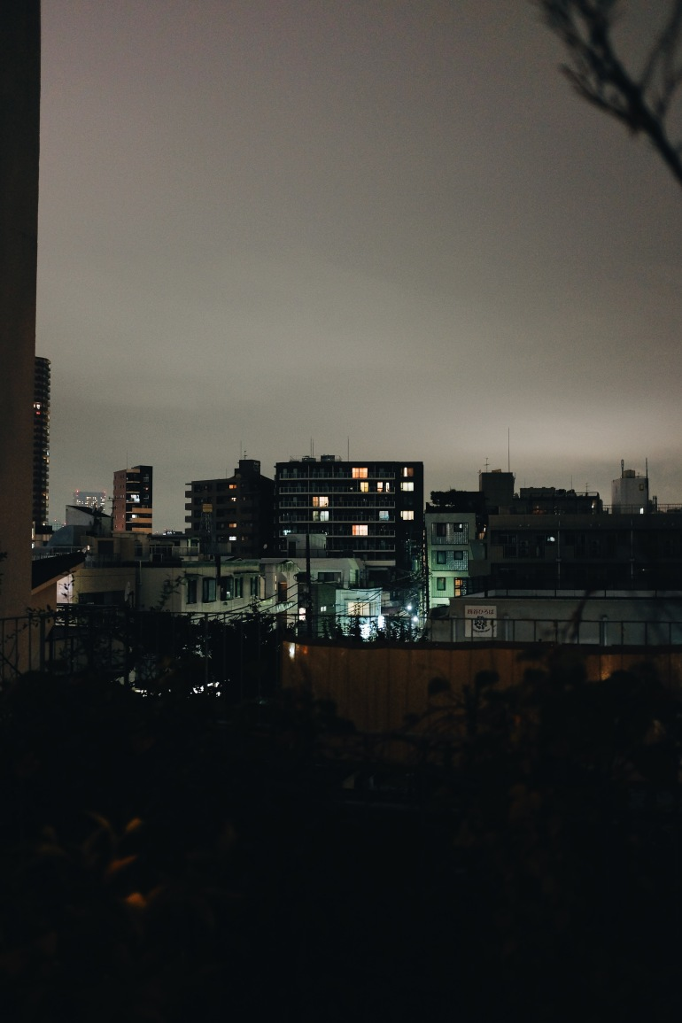 airbnb rooftop night