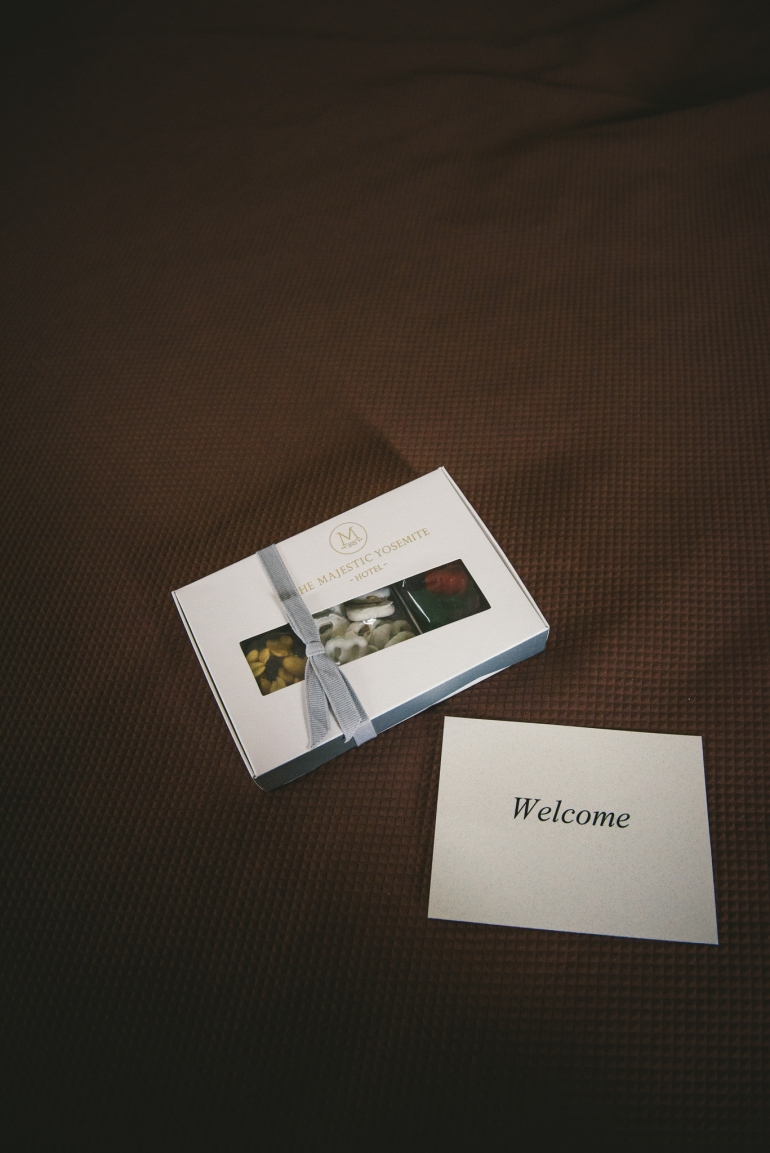 Majestic Yosemite Hotel welcome chocolates