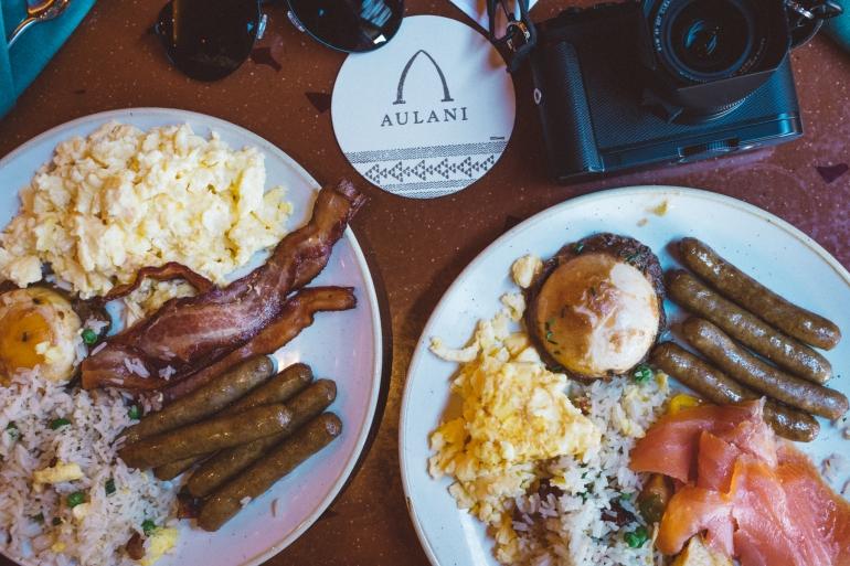Aulani eats