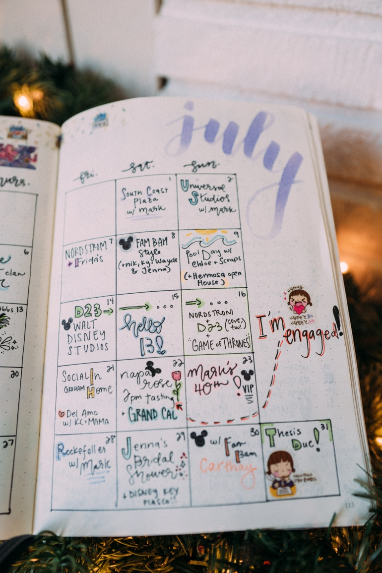 Bullet Journal July