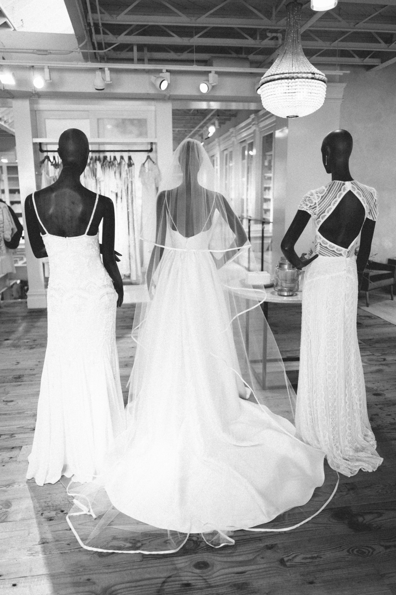 Wedding dress shopping at BHLDN